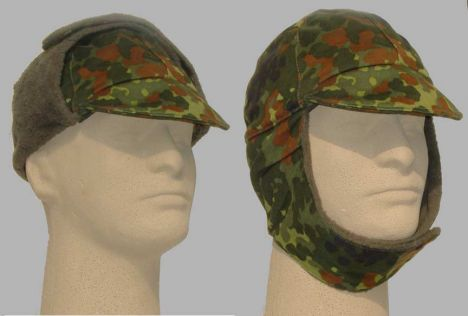 German Army (Bundeswehr) Flectarn Camo Cold Weather Cap