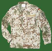 "German Army (Bundeswehr) ""Wustentarn"" (tropical) Desert  Flectarn Shirt"