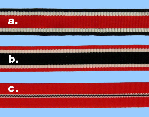 "German WWII 15 mm ""Ribbon Bar"" size Medal Ribbons - 6"" length"