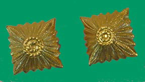East German Army (DDR) Officer's Gold Rank Pip Small - 12 mm pair