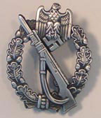 German WWII Infantry Assault Badge - Silver