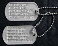 US GI Stainless Steel Dog Tags w/ Custom Imprinting