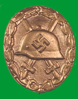 German WWII 1936 Wound Badge in Gold