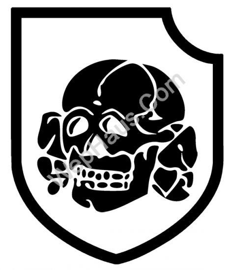 3rd ss panzer division totenkopf vinyl window decal