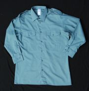 "Swiss Army Uniform Blue Dress Shirt 42"" Chest"