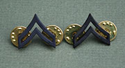 US GI Rank Collar Device, Subdued, Metal E4 (Corporal)