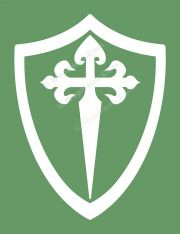Sword Cross and Crusader Shield Vinyl Window Decal