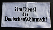"German WWII ""In Dienst Der Deutsche Wehrmacht"" cotton Armband"