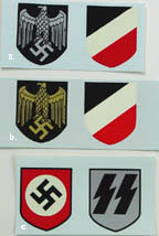 German WWII Reproduction Helmet Decals