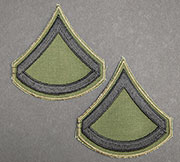 US GI Embroidered Sleeve Rank Pair, Subdued, E-3