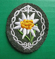 German WWII Gebirgsjäger (Mountain Troops) Sleeve Patch