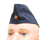 East German Summer Blue Navy Enlisted Ranks Garrison Cap