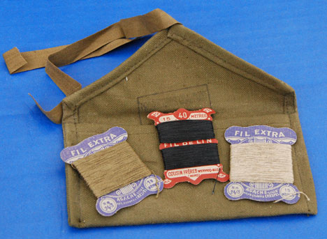 French 1950's Vintage Military Sewing Kit