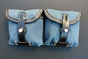 German WWII G43 Ammo Pouch, Blue canvas