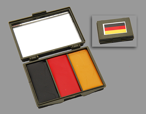 German Flag 3-Color Face Paint Compact w/ Mirror