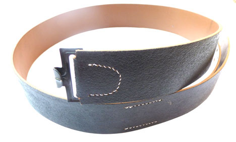 German WWII Reproduction Enlisted Ranks Black Leather Service Belt