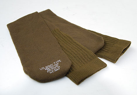 US GI Army-Type Olive Green Tube Socks