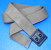 US GI M-1937 Late WWII Olive Drab Web Trouser belt with Metal buckle