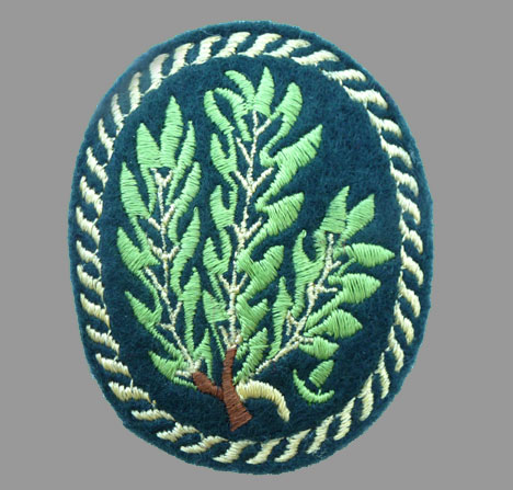 German WWII J�ger Sleeve Patch