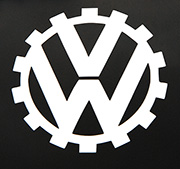German WWII KDF/VW Gear LogoDecal