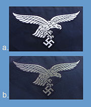 German WWII Air Force (Luftwaffe) BeVo Breast Eagles