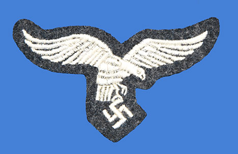 German WWII Air Force (Luftwaffe) Embroidered Early Enlisted NCO Breast Eagle