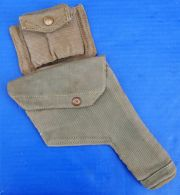 British WWII P37 Holster with Ammo Pouch