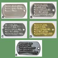 US GI Single Dog Tag w/ Custom Imprinting