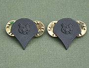 US GI Rank Collar Device, Subdued, Metal Spec E4 (Specialist)