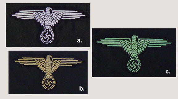 German WWII SS BeVo Enlisted Sleeve Eagles