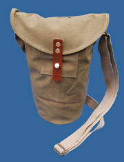 Swedish Canvas Air Defense Gas Mask Bag 1942 Dated Unissued!