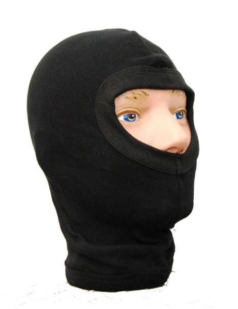 Swiss Army 100% Cotton Black Balaclava