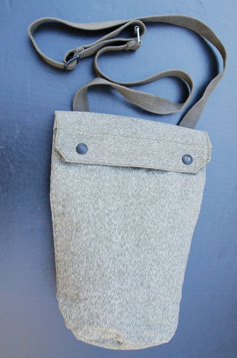 Swiss Army Salt and Pepper Canvas Gas Mask Bag